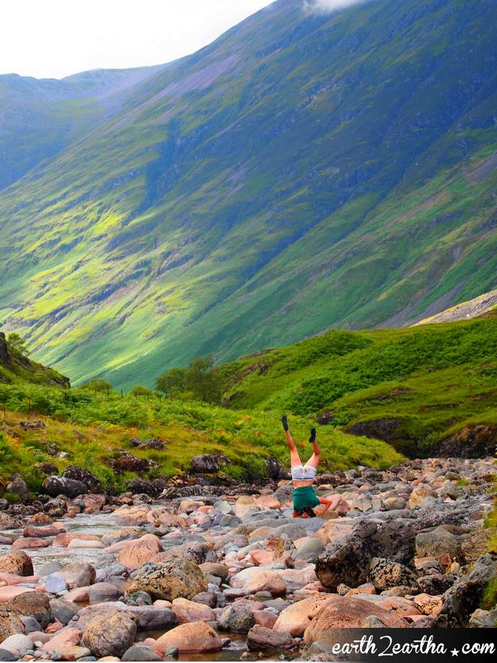 Yoga in Glencoe National Park, The Highlands, Scotland
