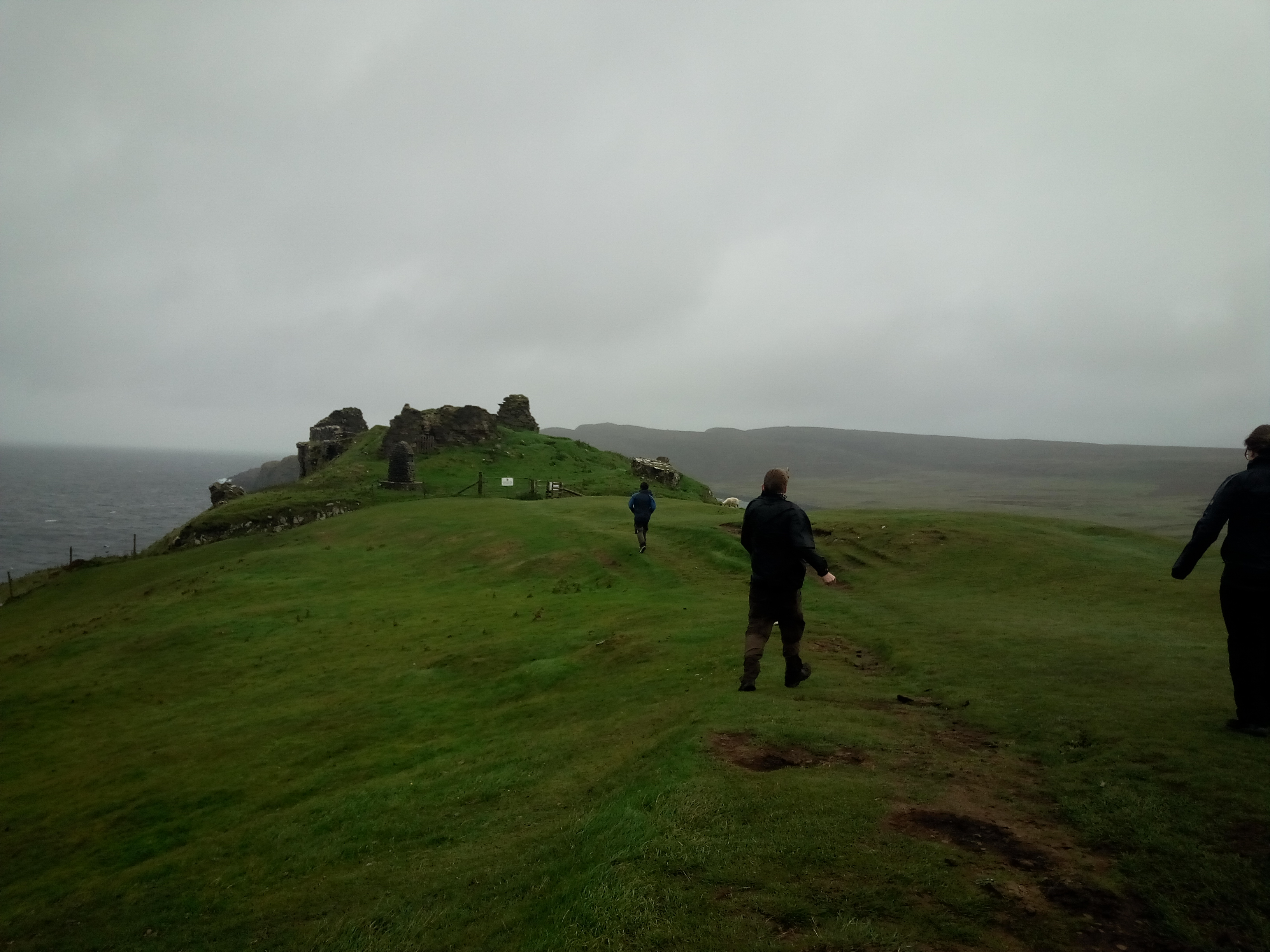 Getting Blown About at Duntulm Castle - Tours of Scotland