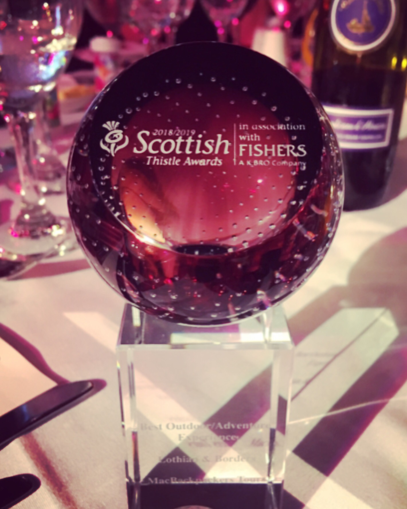 Scottish Thistle Awards Winner - Best Outdoor/Adventure Experience