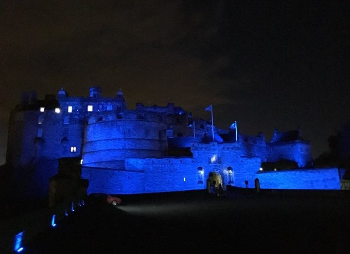 Edinburgh Castle Blue Lights St Andrews Day