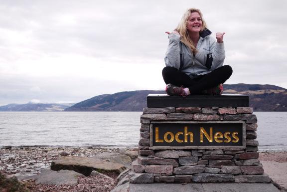 Loch Ness posing